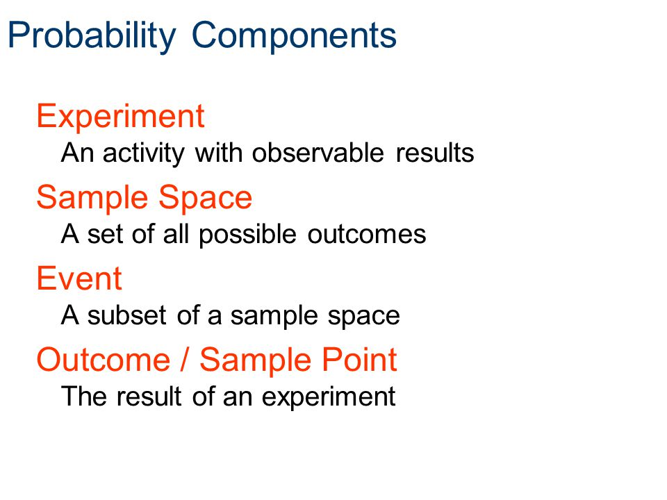 Probability Components