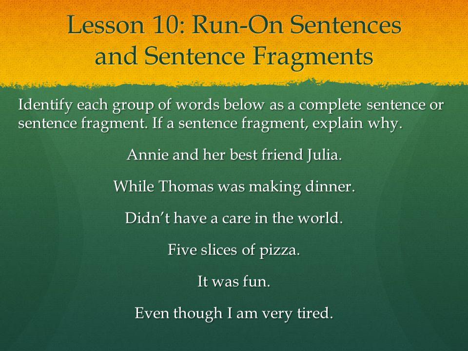 sentence fragment checker