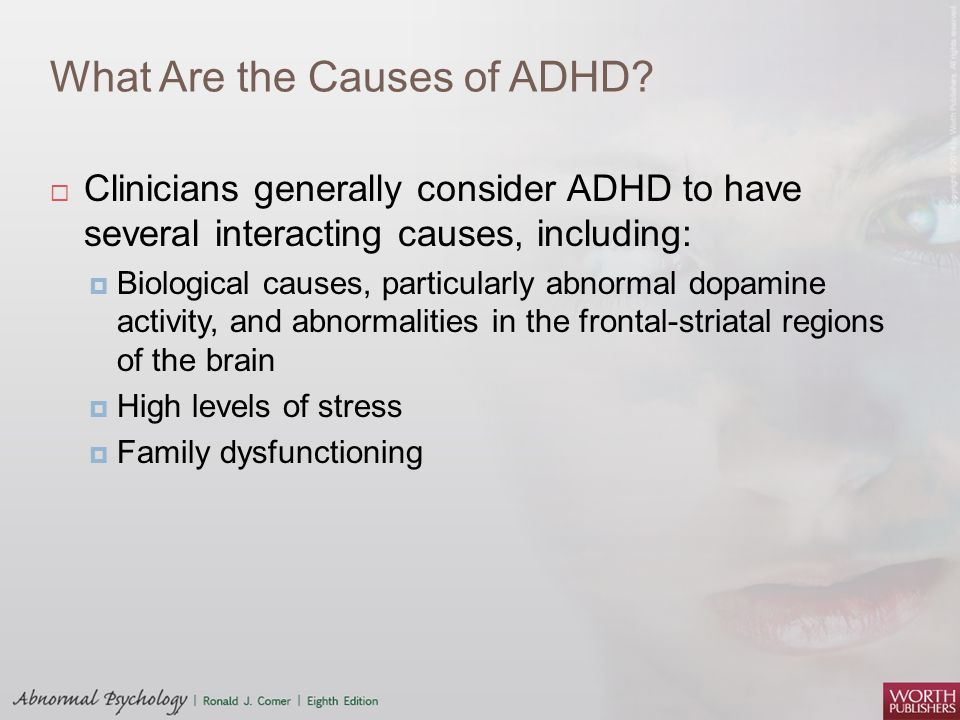 the pathophysiology of adhd However, the pathogenesis of adhd remains unclear iron, an important trace  element, is implicated in brain function and dopaminergic activity.