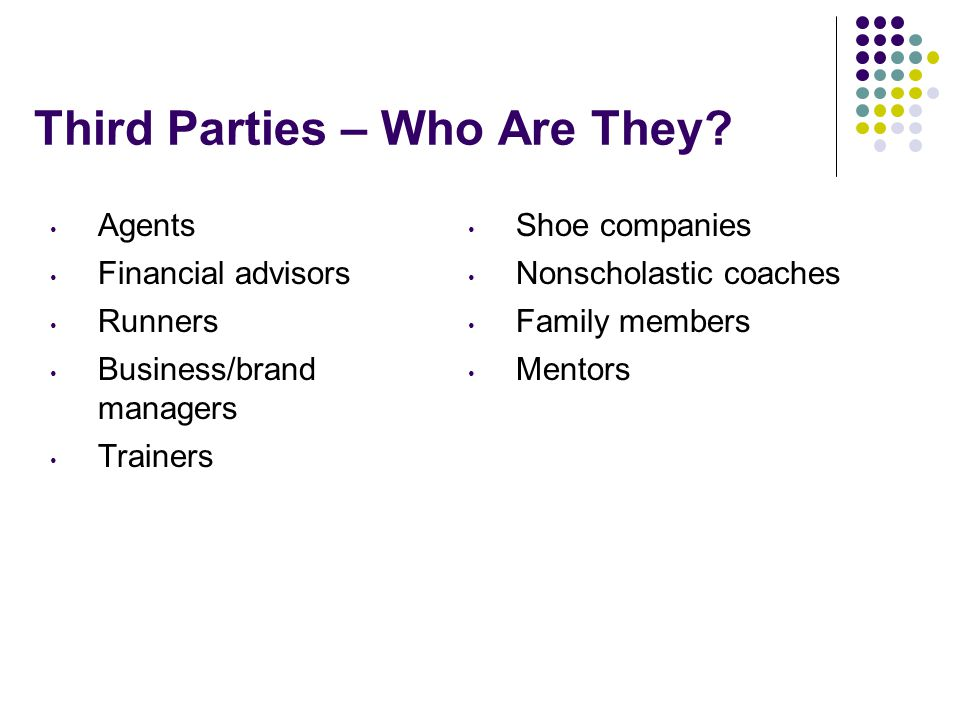 Third Parties – Who Are They