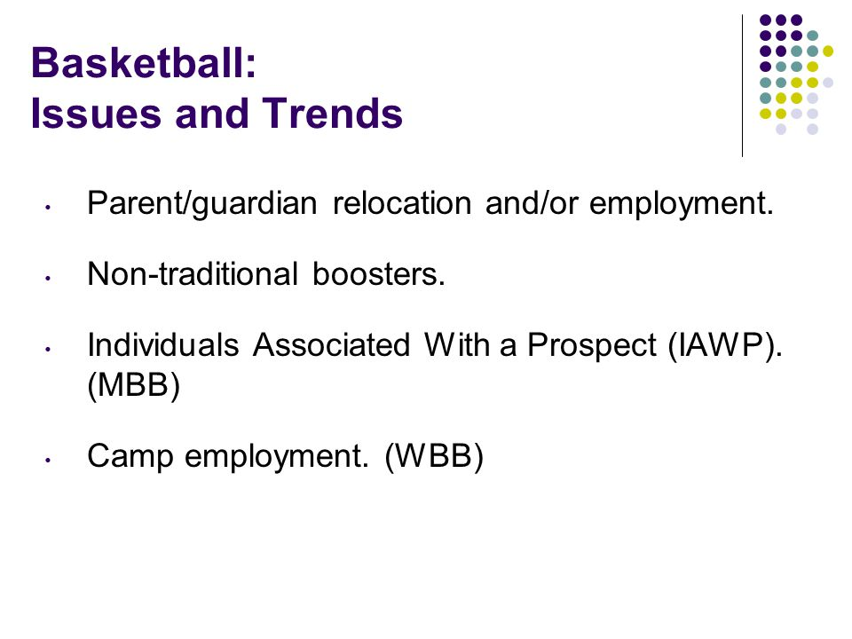 Basketball: Issues and Trends