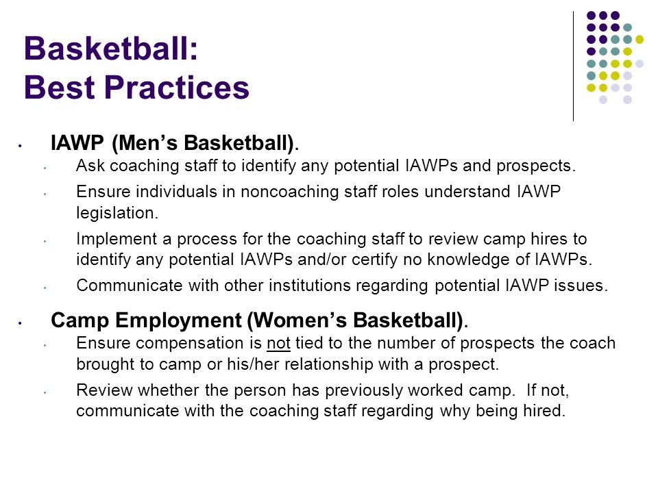 Basketball: Best Practices