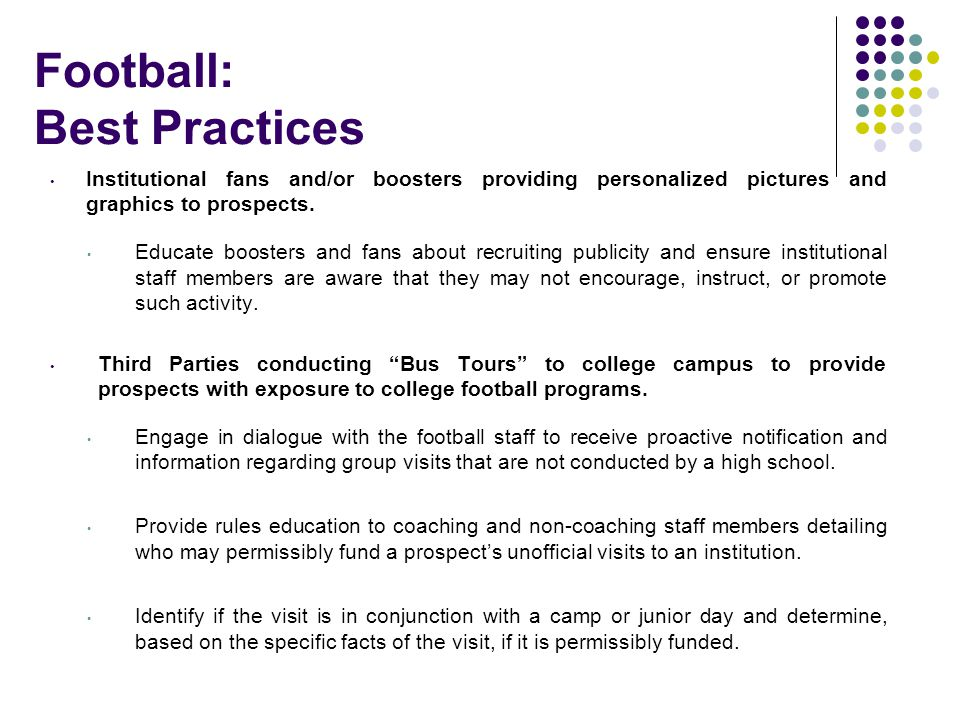Football: Best Practices