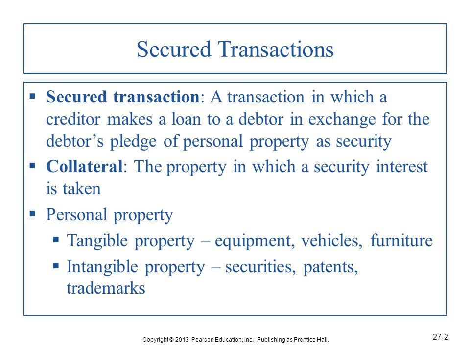 How Is Security Interest Created In Personal Property