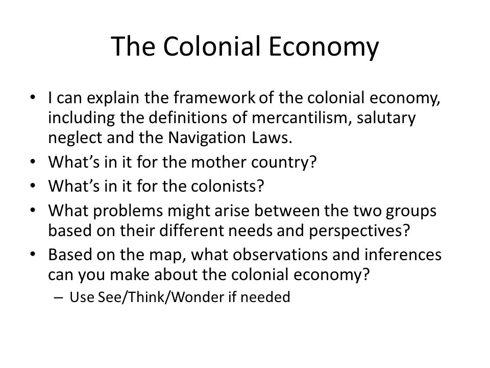 american colonial economy essay The colonists - what they created  the middle colonies' economy was characterized  while the primary mode of economic activity in colonial america was farming, .