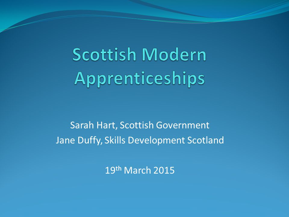 Scottish Modern Apprenticeships