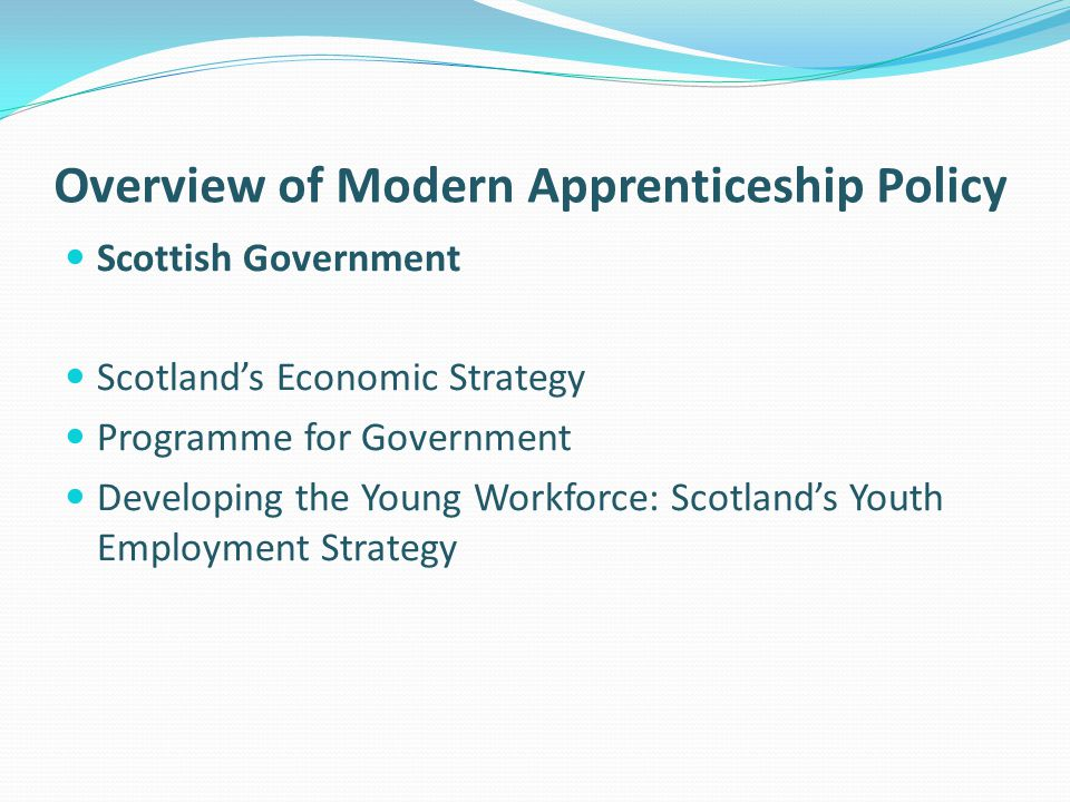 Overview of Modern Apprenticeship Policy
