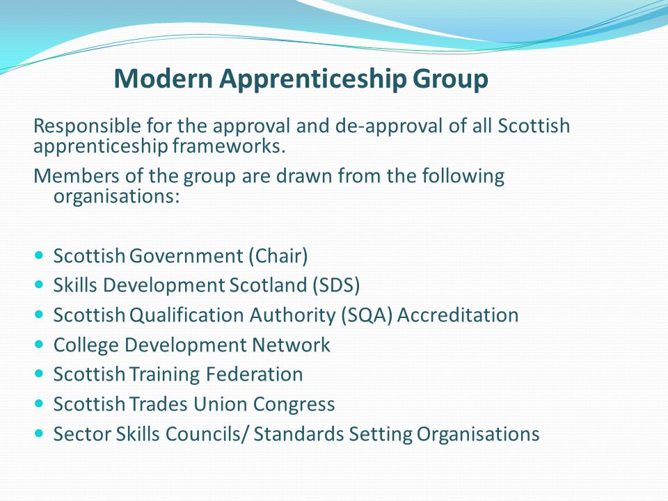 Modern Apprenticeship Group