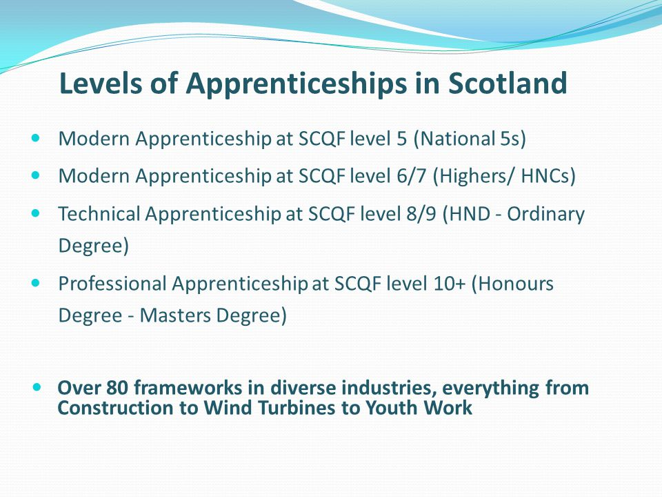 Levels of Apprenticeships in Scotland