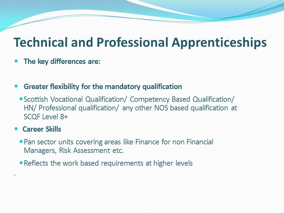 Technical and Professional Apprenticeships