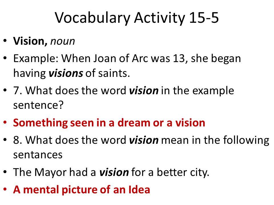 vocabulary activity