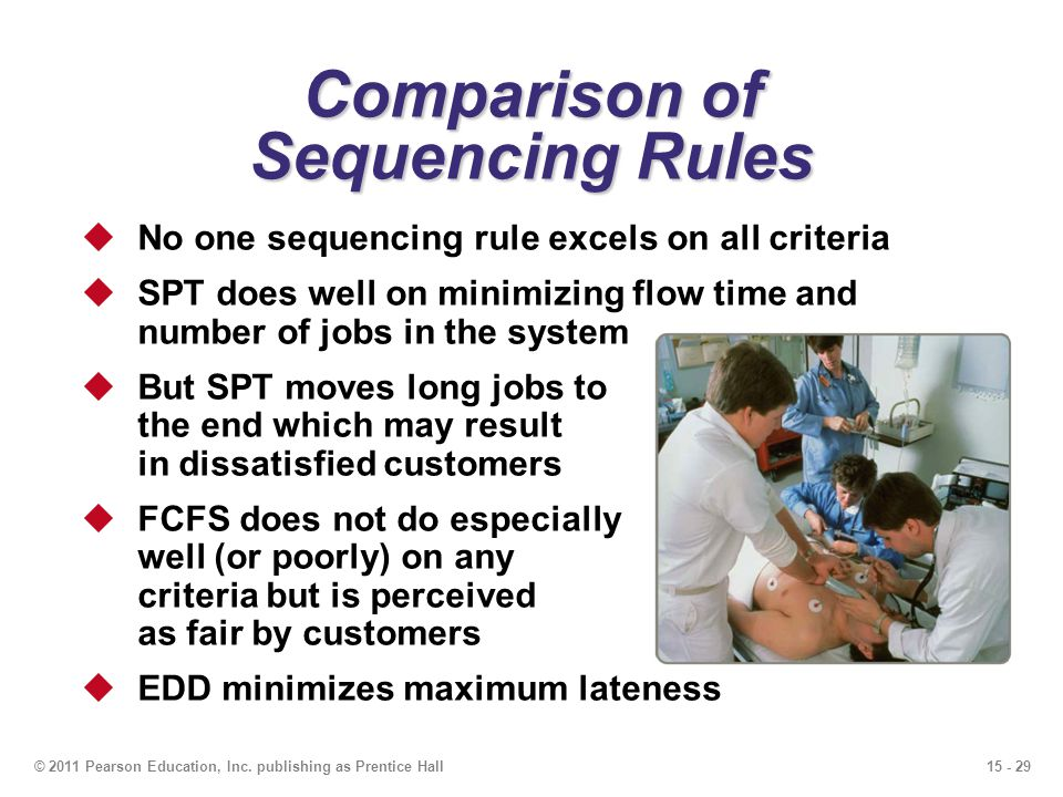 Comparison of Sequencing Rules