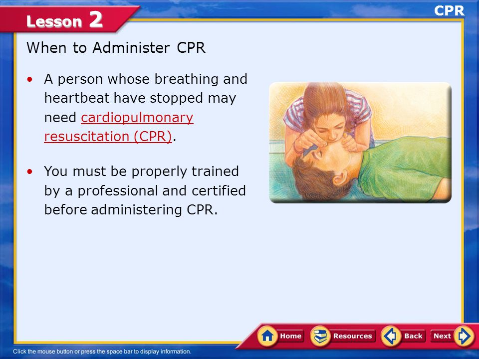 When to Administer CPR CPR