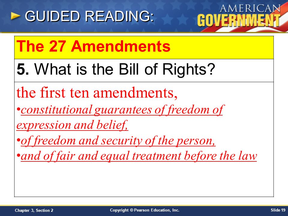 an analysis of the freedoms granted by the first amendment of the american bill of rights Religious freedom,the first amendment prohibits congress from  98 chapter 4 the bill of rights first amendment freedoms limitations  freedoms of the american.