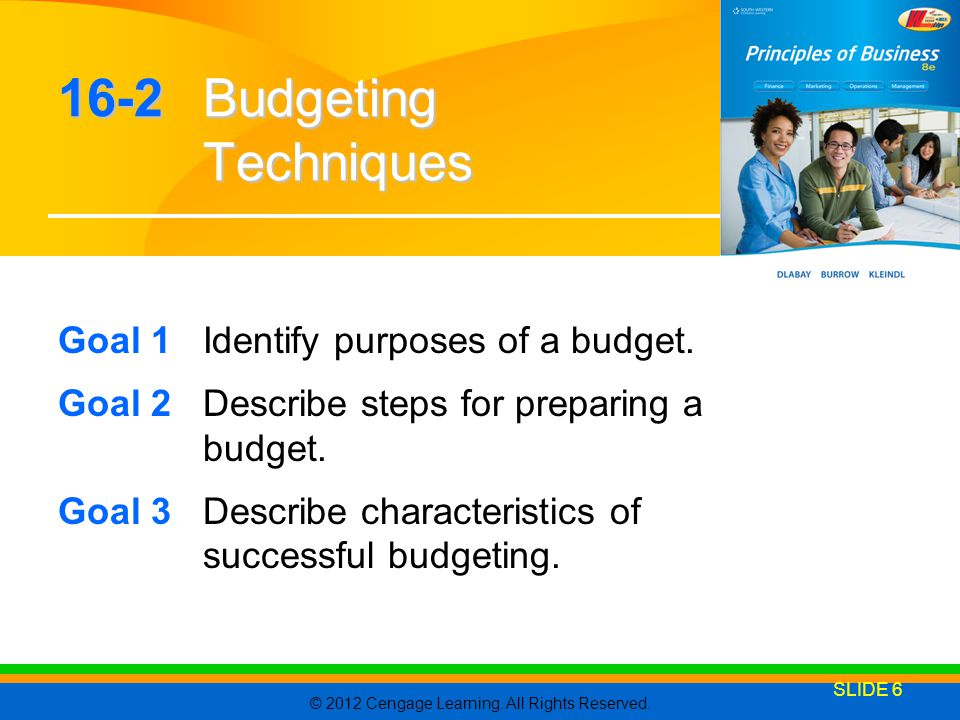16-2 Budgeting Techniques