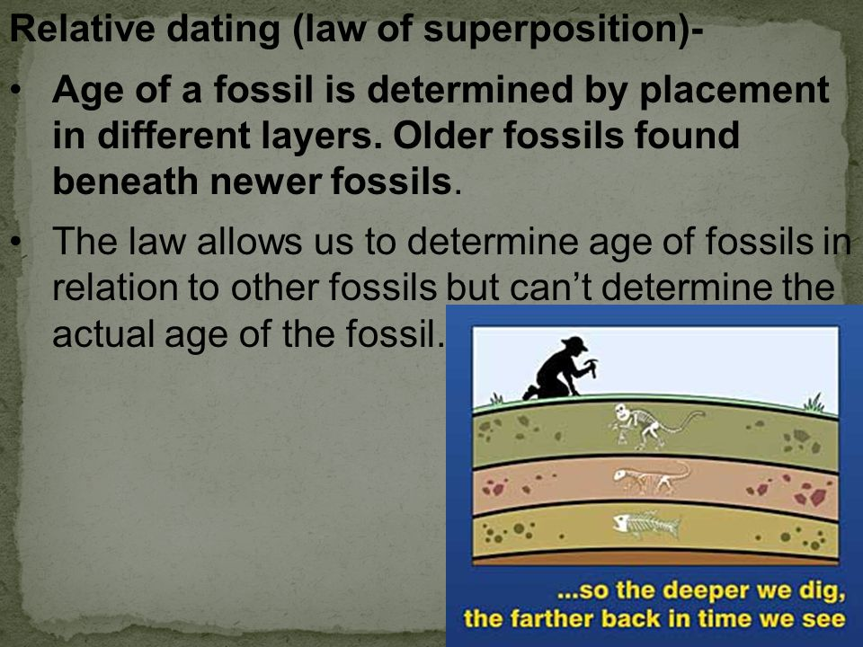 Relative dating (law of superposition)-