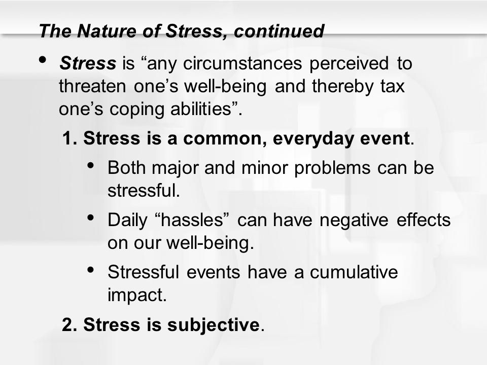 stress and its effects While it may not seem obvious, stress can be very harmful to an individual's oral health those who experience chronic stress may be more likely to perform actions that are damaging to their teeth and overall oral health.