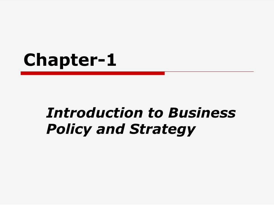introduction to business strategy Buy introduction to e-business: management and strategy 1 by colin combe (isbn: 9780750667319) from amazon's book store everyday low prices and free delivery on.