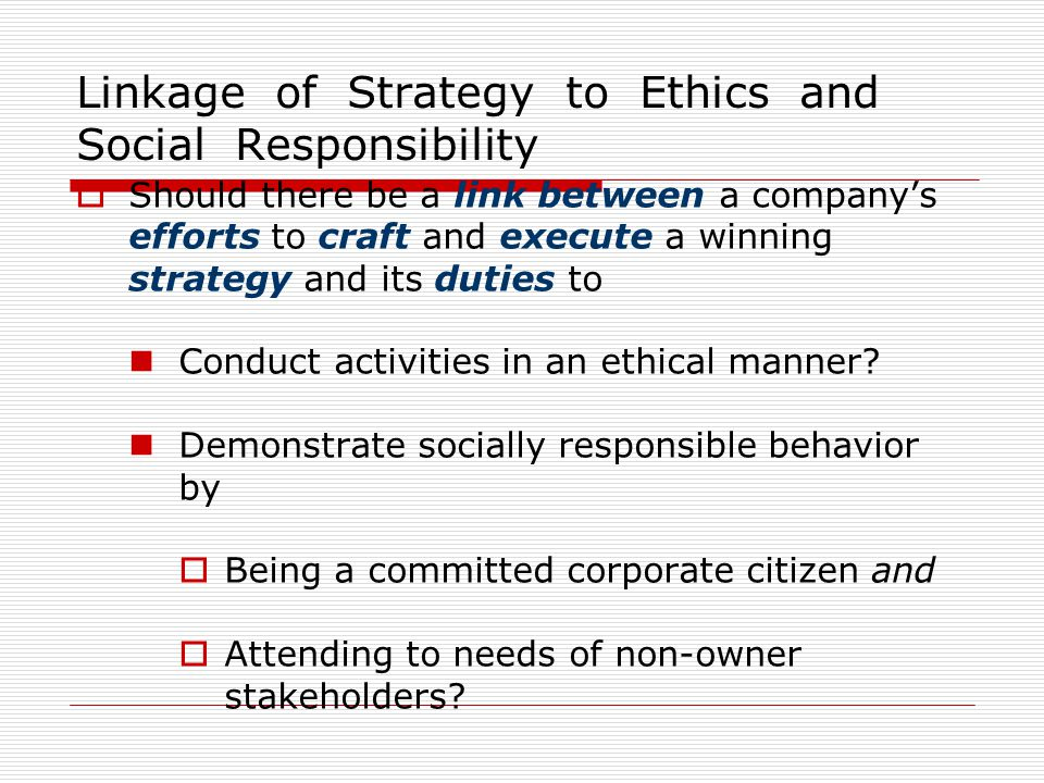 ethical considerations and social responsibilities of multi Corporate social responsibility (csr) promotes a vision of business accountability to a wide range of stakeholders, besides shareholders and investors key areas of concern are environmental protection and the wellbeing of employees, the community and civil society in general, both now and in the.