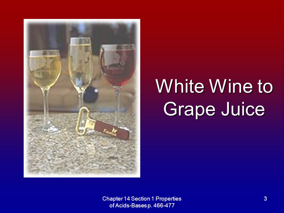 White Wine to Grape Juice