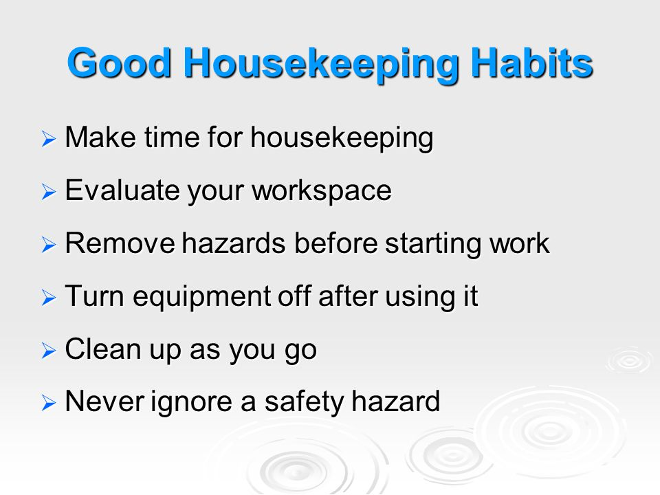 good housekeeping maintaining focus ppt video online