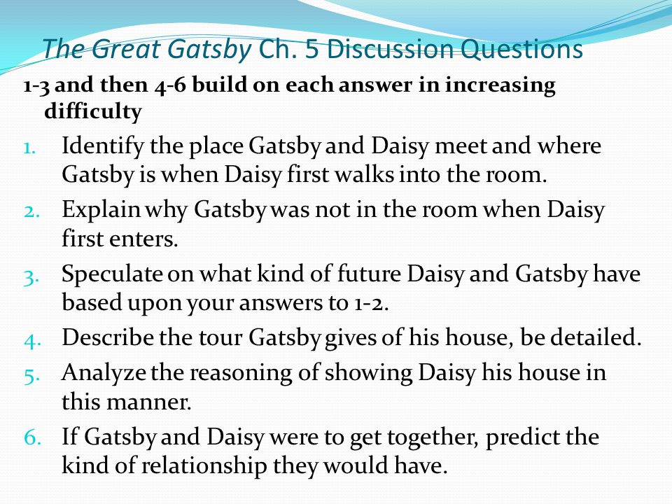 great gatsby essay hook The great gatsby movie vs book in his movie there were many details that remained loyal to the book there were some others that were changed slightly, either for.