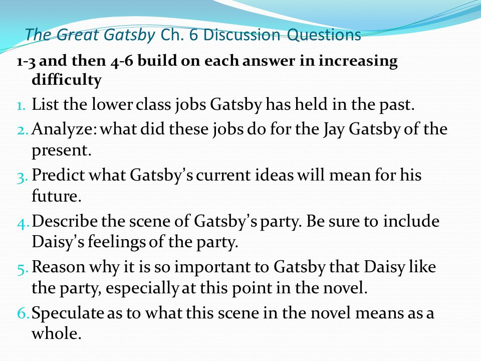1 how does gatsby represent the american Helpful hints to remember novel the great gatsby study guide by mitchek1222 includes 49 questions covering vocabulary, terms and more quizlet flashcards, activities and games help you improve your grades  who represents the american dream gatsby what does the green light symbolize.
