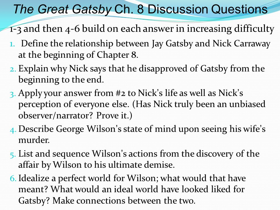 The Great Gatsby Chapter 3 Questions and Answers