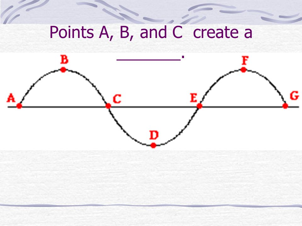 Points A, B, and C create a _______.