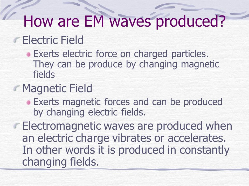 How are EM waves produced