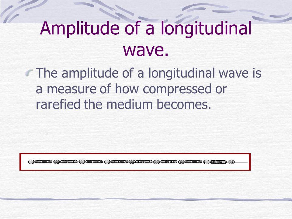 Amplitude of a longitudinal wave.