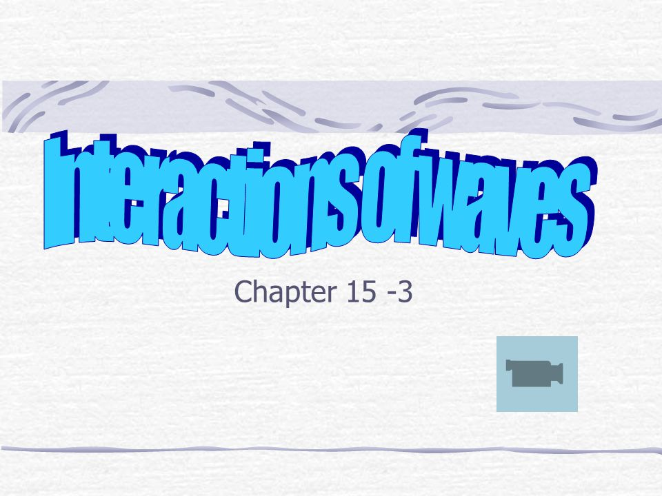 Interactions of waves Chapter 15 -3