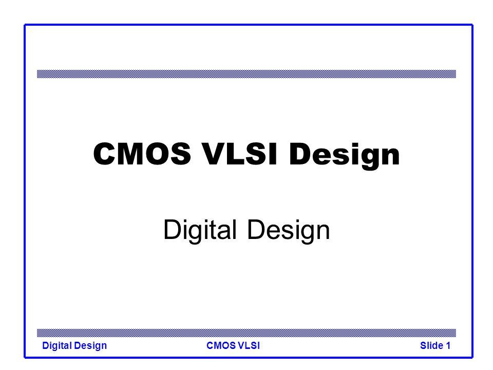 cmos and digital design