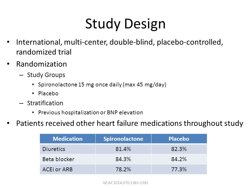 Study Design International, multi-center, double-blind, placebo-controlled, randomized trial. Randomization.