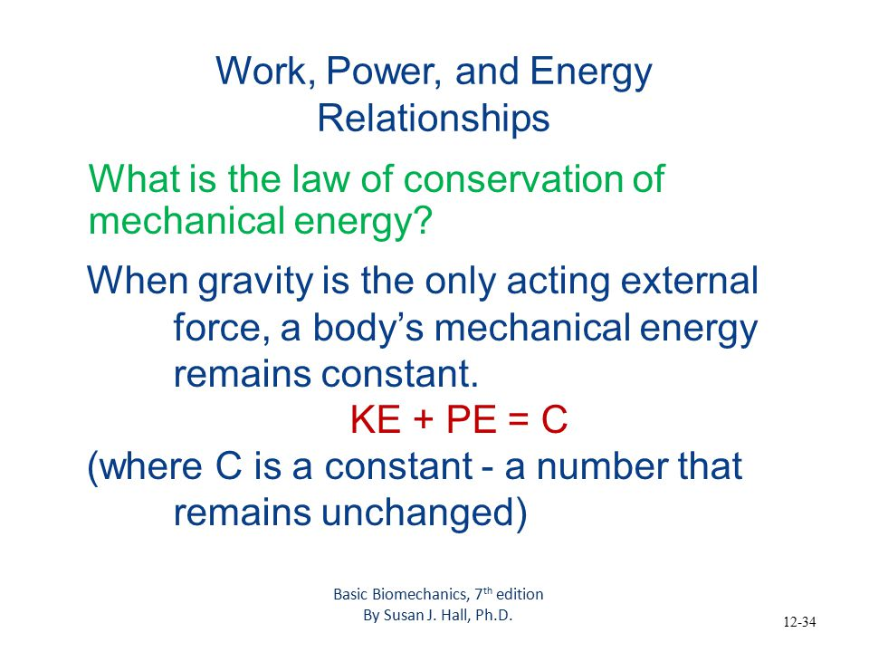 explain the energy power relationship