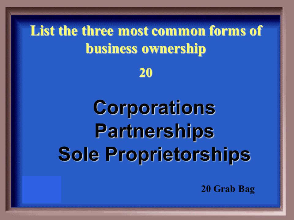 Corp., Inc, Co. Me, Myself & I Partner Up Know That Term Grab Bag ...