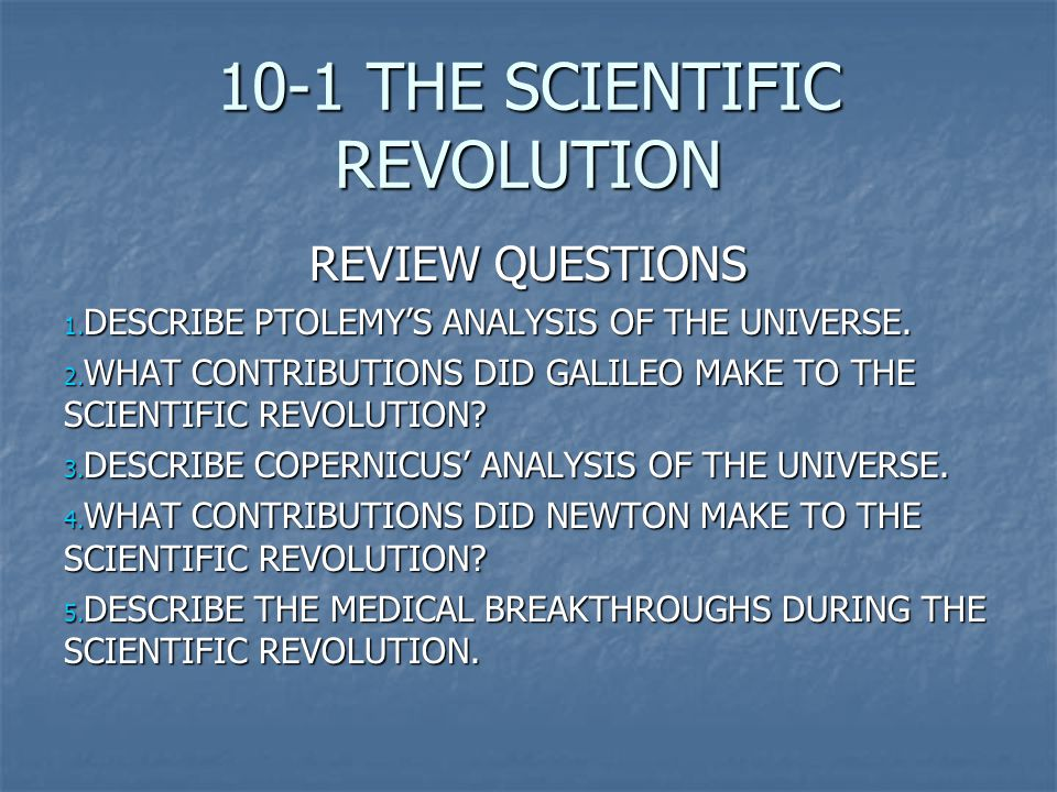 breakthroughs in the scientific revolution essay Definitions of the important terms you need to know about in order to understand the scientific revolution to the scientific progress common app essay.