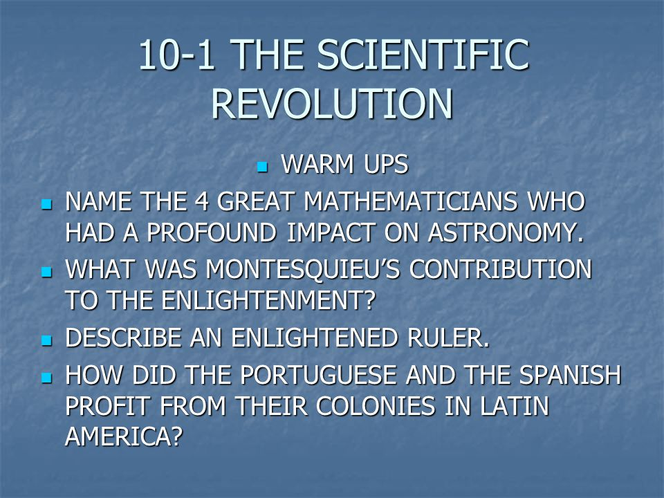 the scientific revolution on the enlightenment era essay The enlightenment and the scientific revolution: men of ideas creating change nicole hill the eighteenth century is often referred to as the enlightenment.
