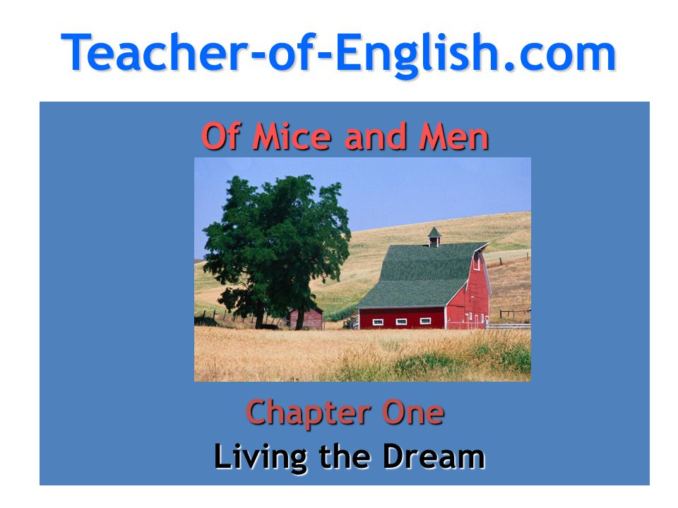 mice men novel essays Of Mice and Men: Novel Summary: Chapter 1