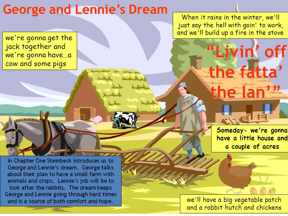 of mice and men theme of dreams essay Struggling with themes such as dreams, hopes, and plans in john steinbeck's of mice and men we've got the quick and easy lowdown on it here.