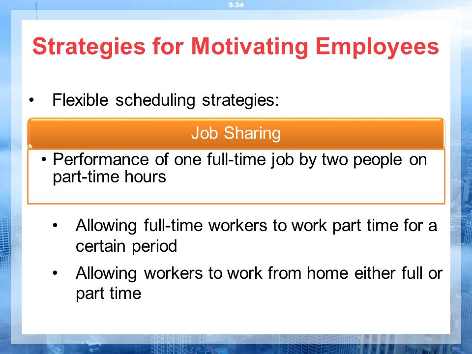 motivating part time employees Employee motivation  scope of the study this study was completed using the input of full-time and part-time employees of the company in all different.