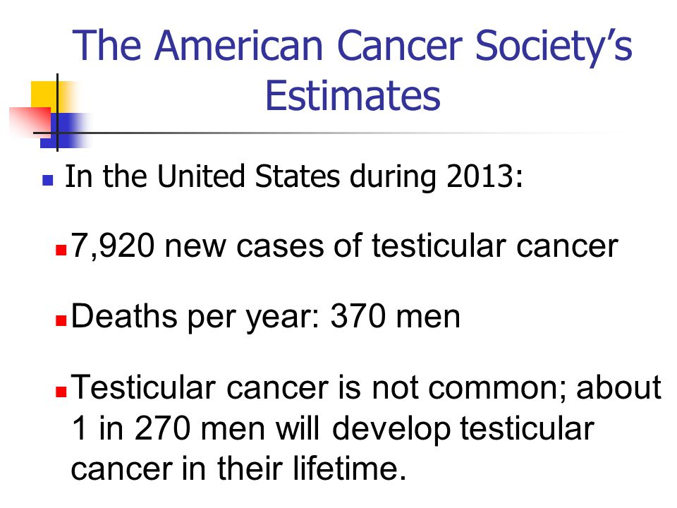 The American Cancer Society's Estimates