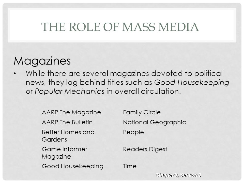 role of mass media in political Political scientists are sometimes interested in the media's role in politics media   muhammad anwar, m phil scholar, department of mass communication.