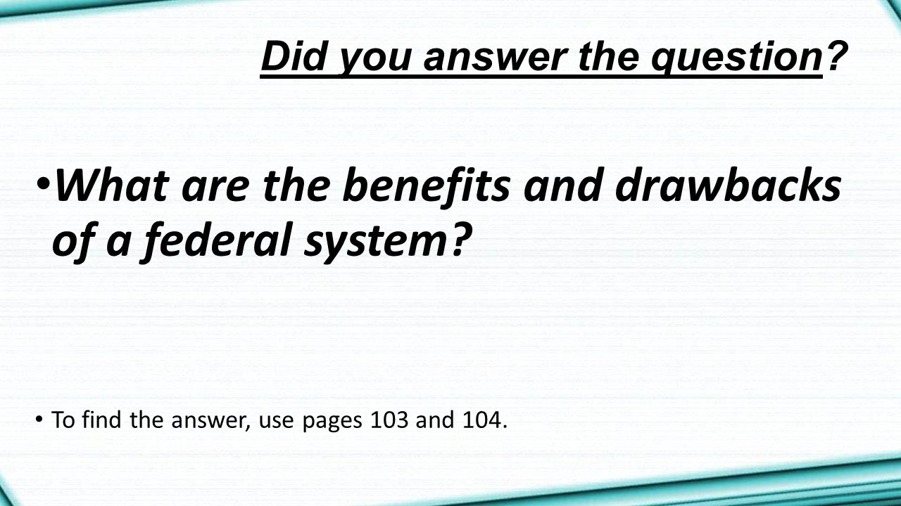 Did you answer the question