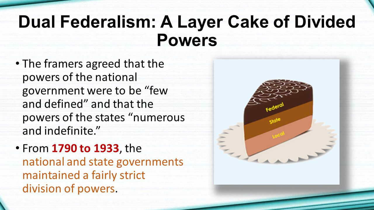 Dual Federalism: A Layer Cake of Divided Powers