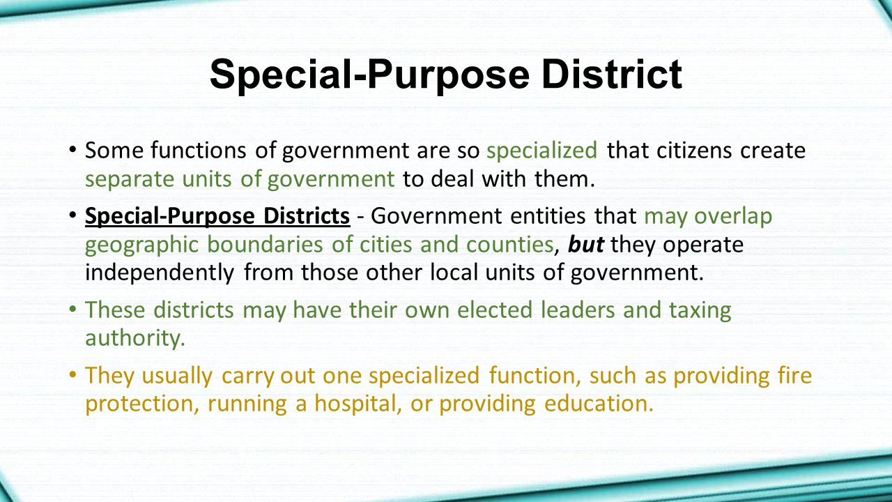 Special-Purpose District