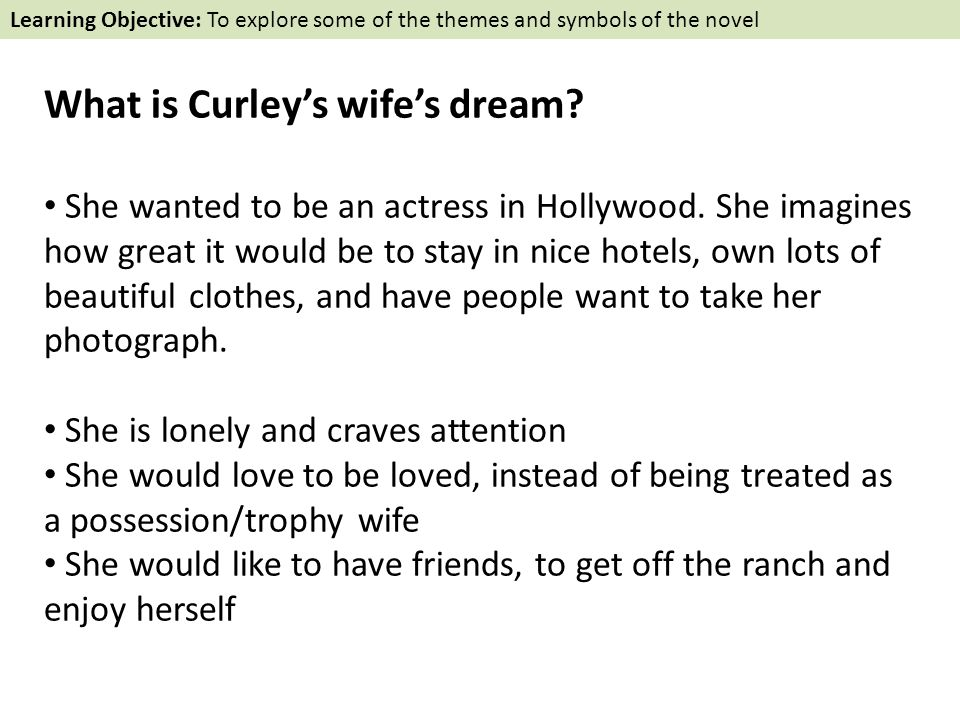 curleys wife dream essay