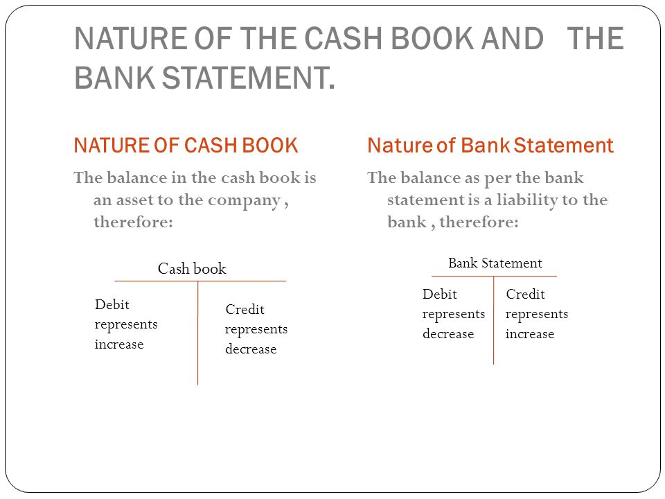 how to read bank statement debit credit