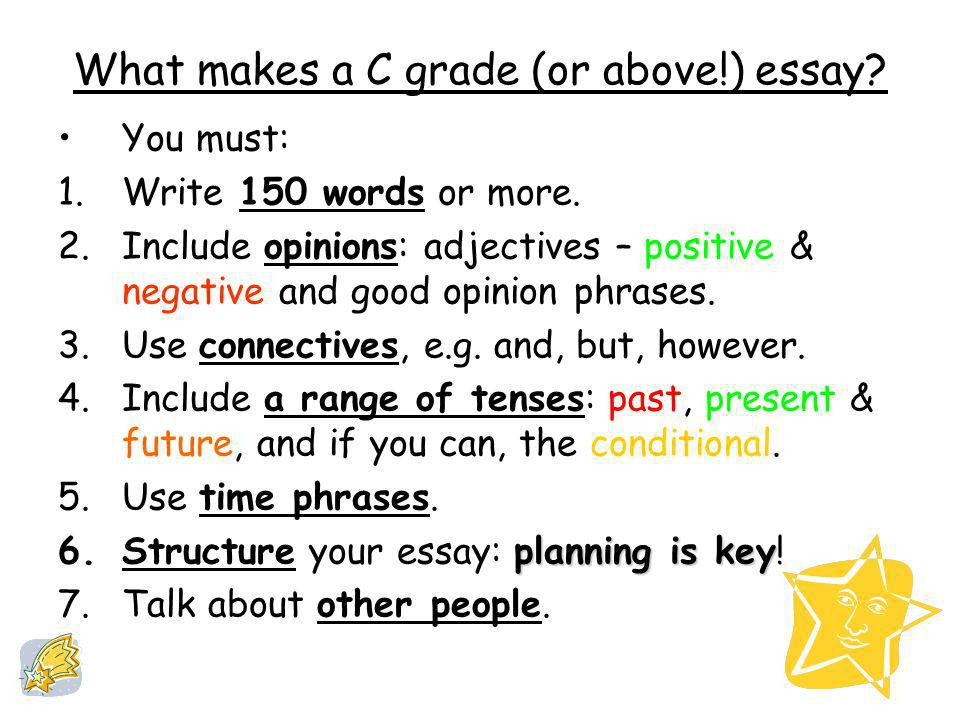 What makes a C grade (or above!) essay