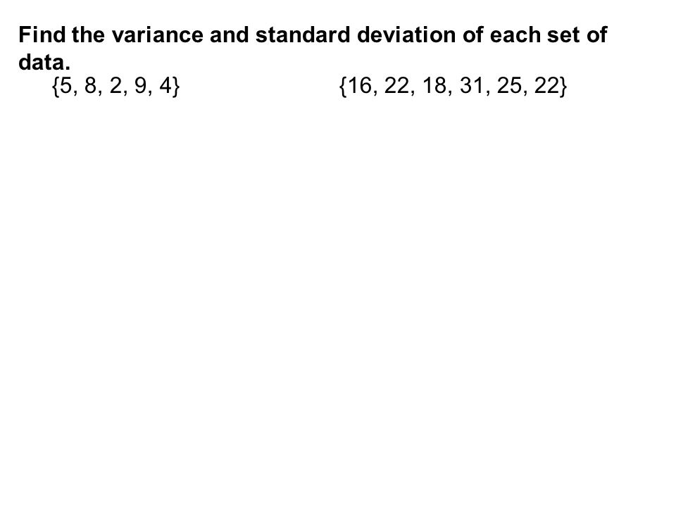 how to find the standard deviation of a set data